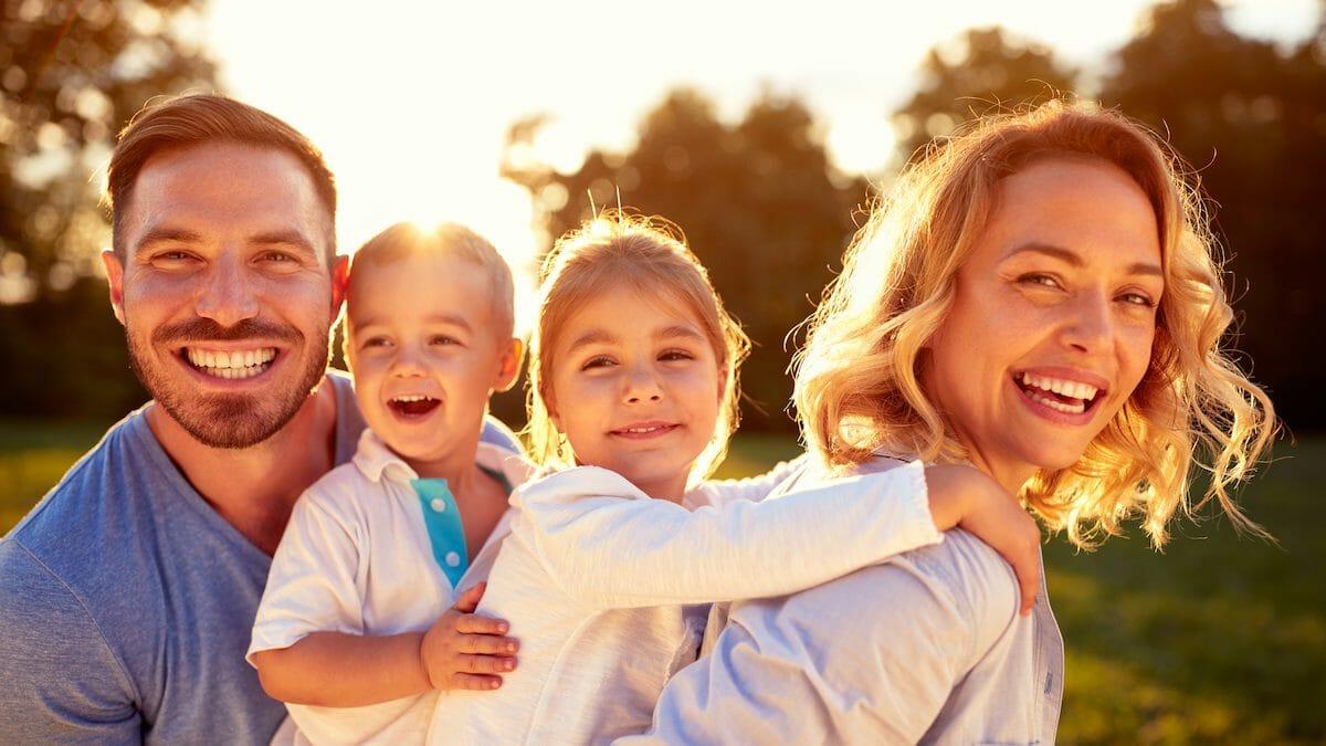 happy family photo with smiles